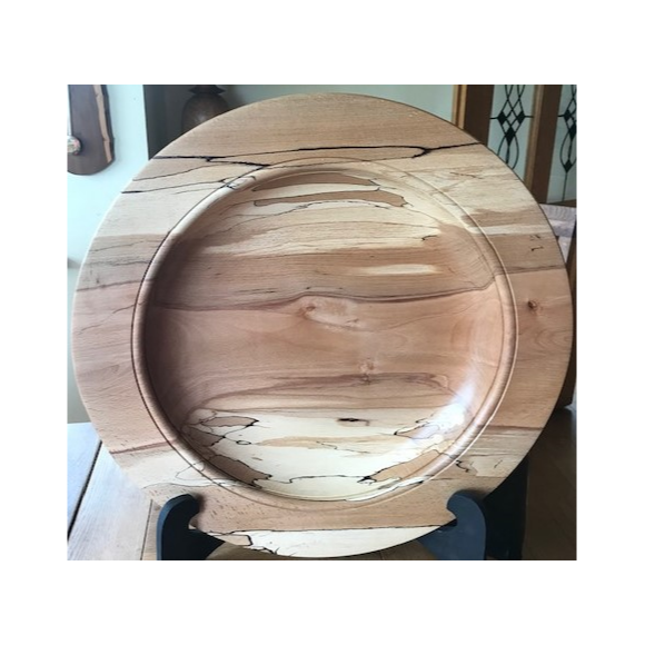 Spalted Beech Platter, Fred O'Mahony