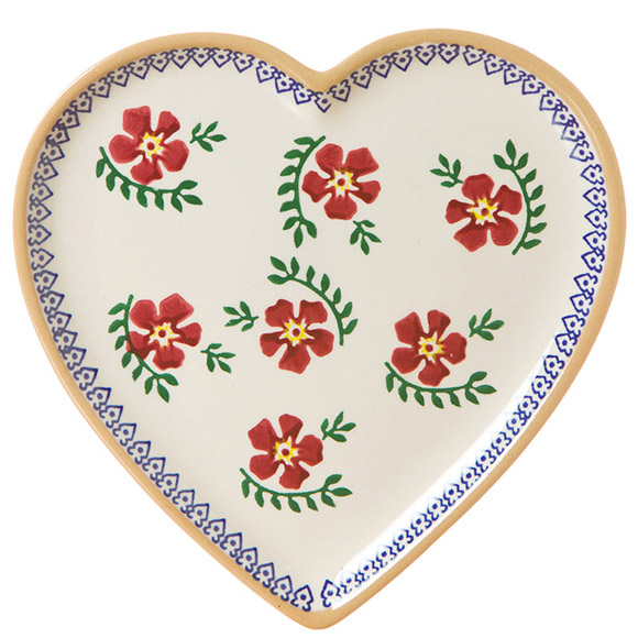 Old Rose Medium Heart Plate