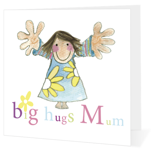 Mothers Day Gift Card - Big Hugs Mum