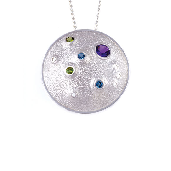 Blue Moon Pendant, with birthstones