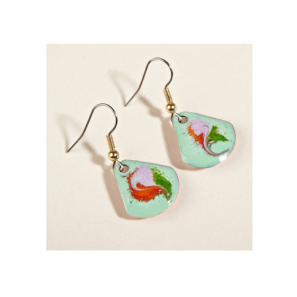 Meab Enamels Teardrop Earrings