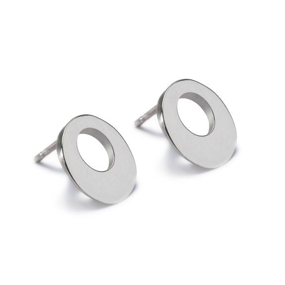 Circle of Dreams Silver Stud Earrings