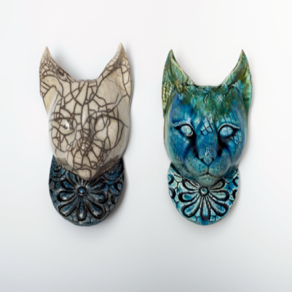 Cat, Ceramic Wall Art, Julian Smith