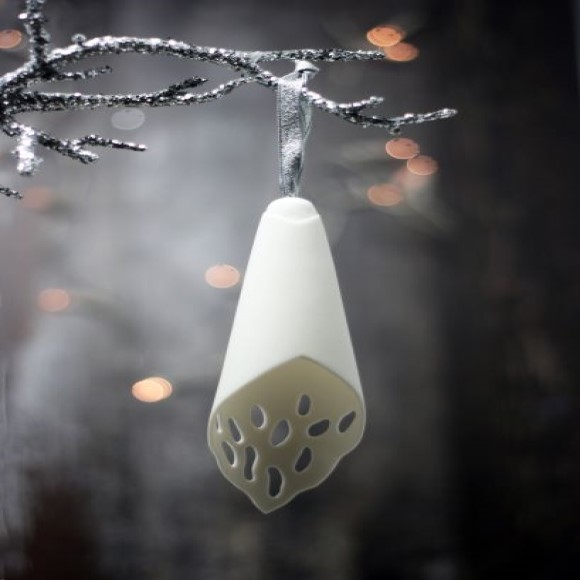 Lace Droplet Handmade Porcelain Tree Decoration