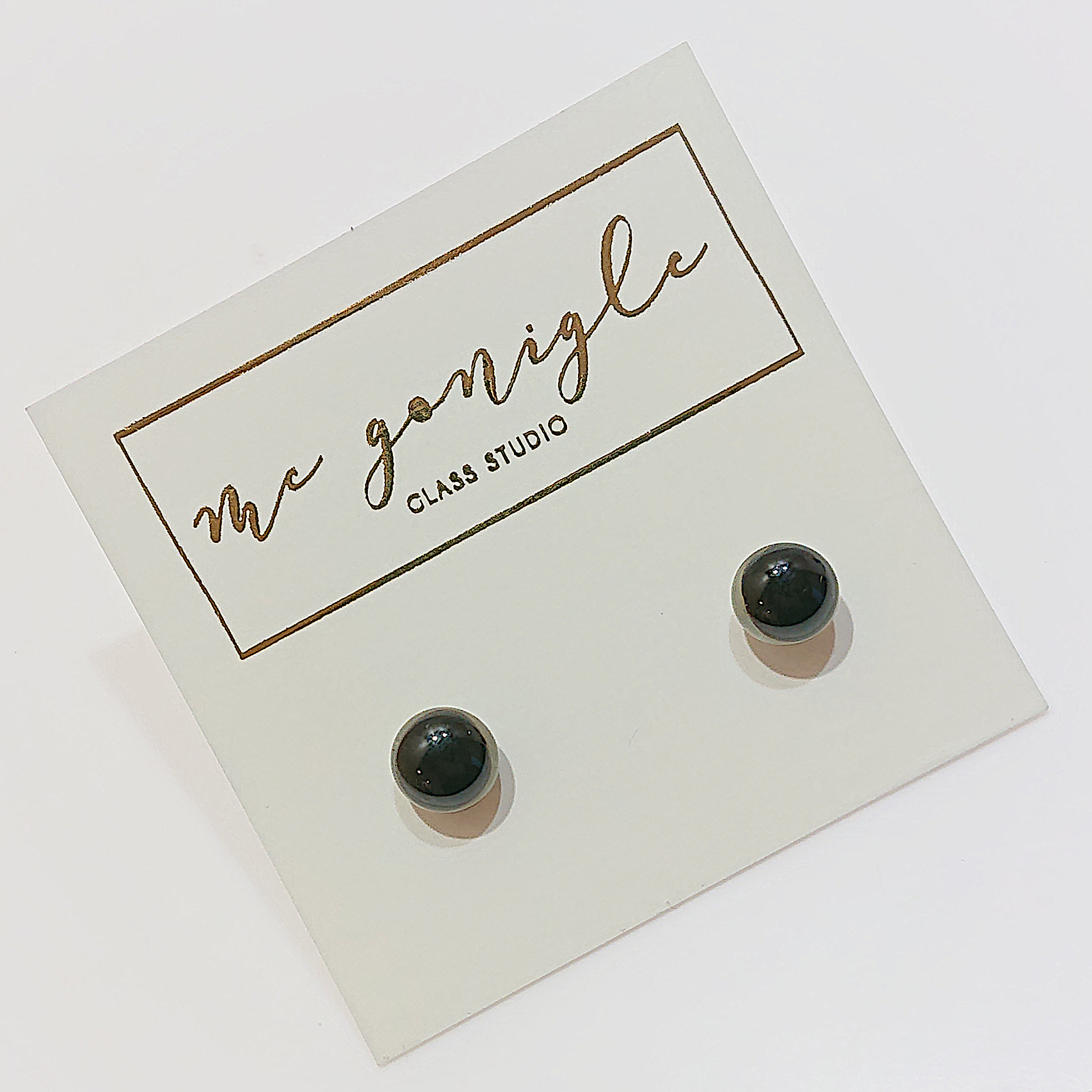 Black Stud Earring