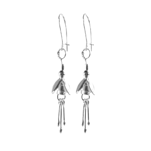 Fuchsia Sterling Silver Drop Earrings | Linda Uhlemann