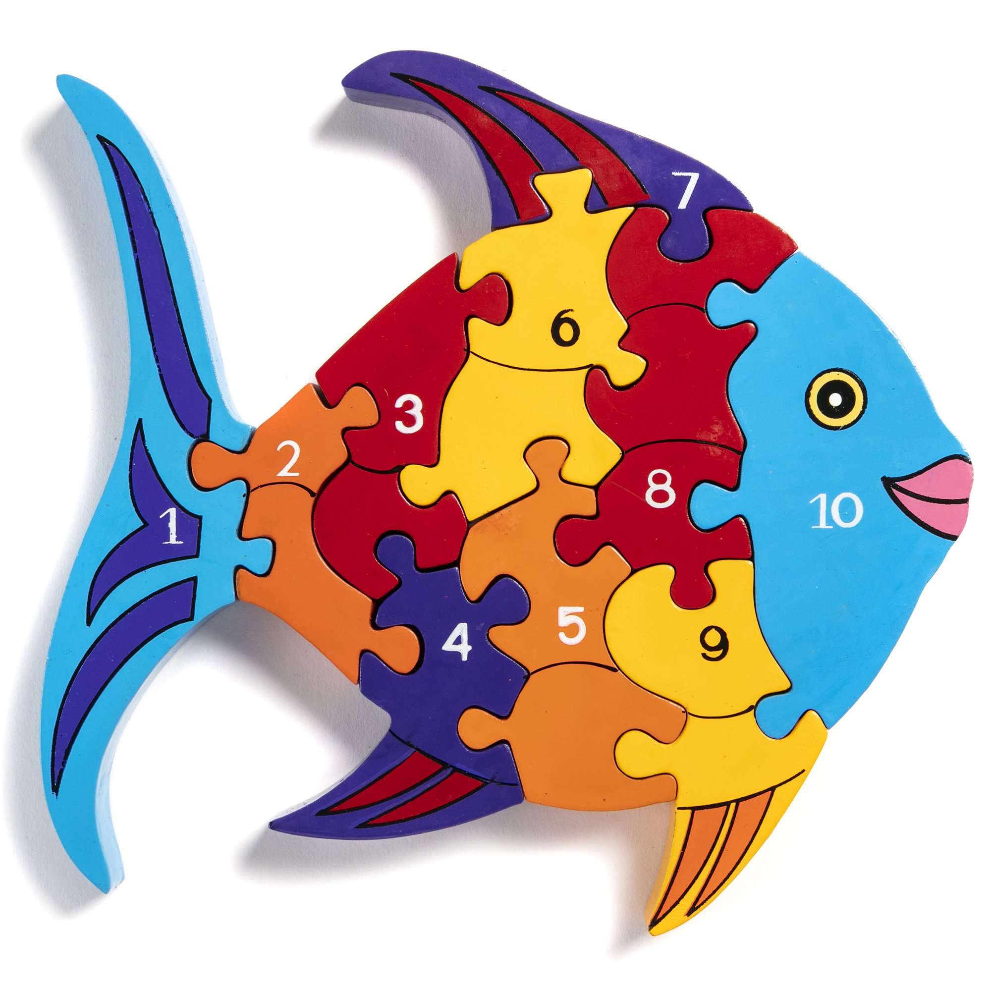 Wooden Fish Jigsaw Puzzle