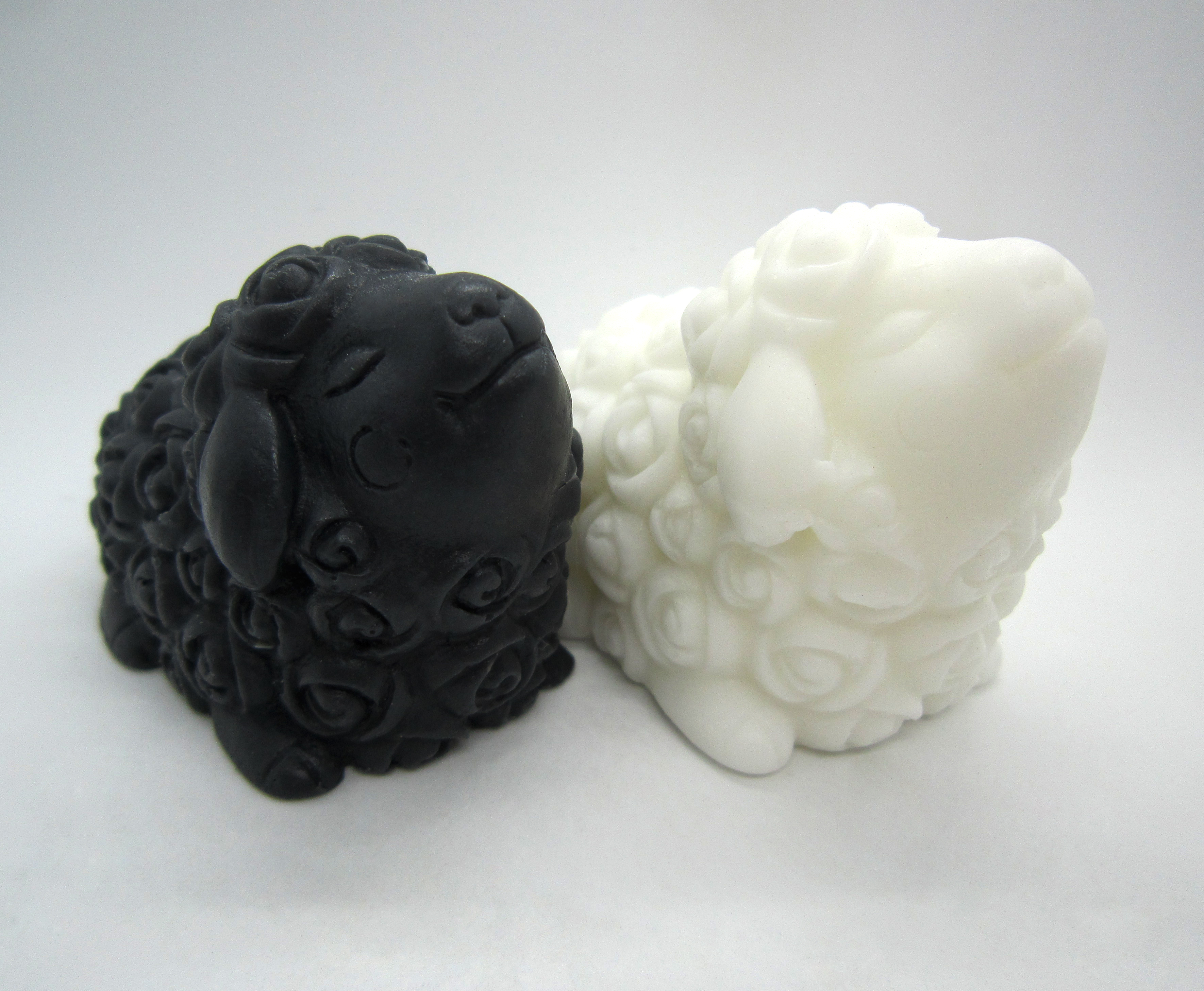 Donkey Milk Soaps, Pair of Happy Sheep