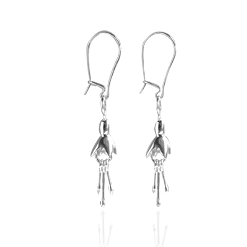 Fuchsia silver Drop Earrings | Linda Uhlemann | Petite