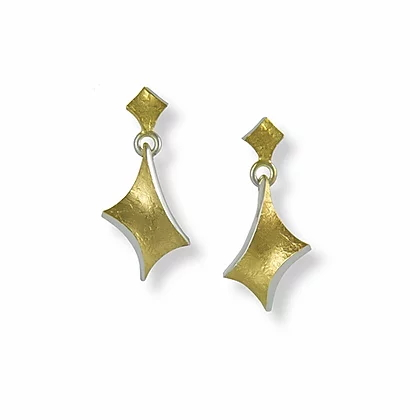 Golden Twist small hanging earrings | Seamus Gill