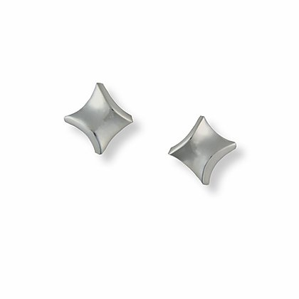 Silver Twist small stud earrings | Seamus Gill