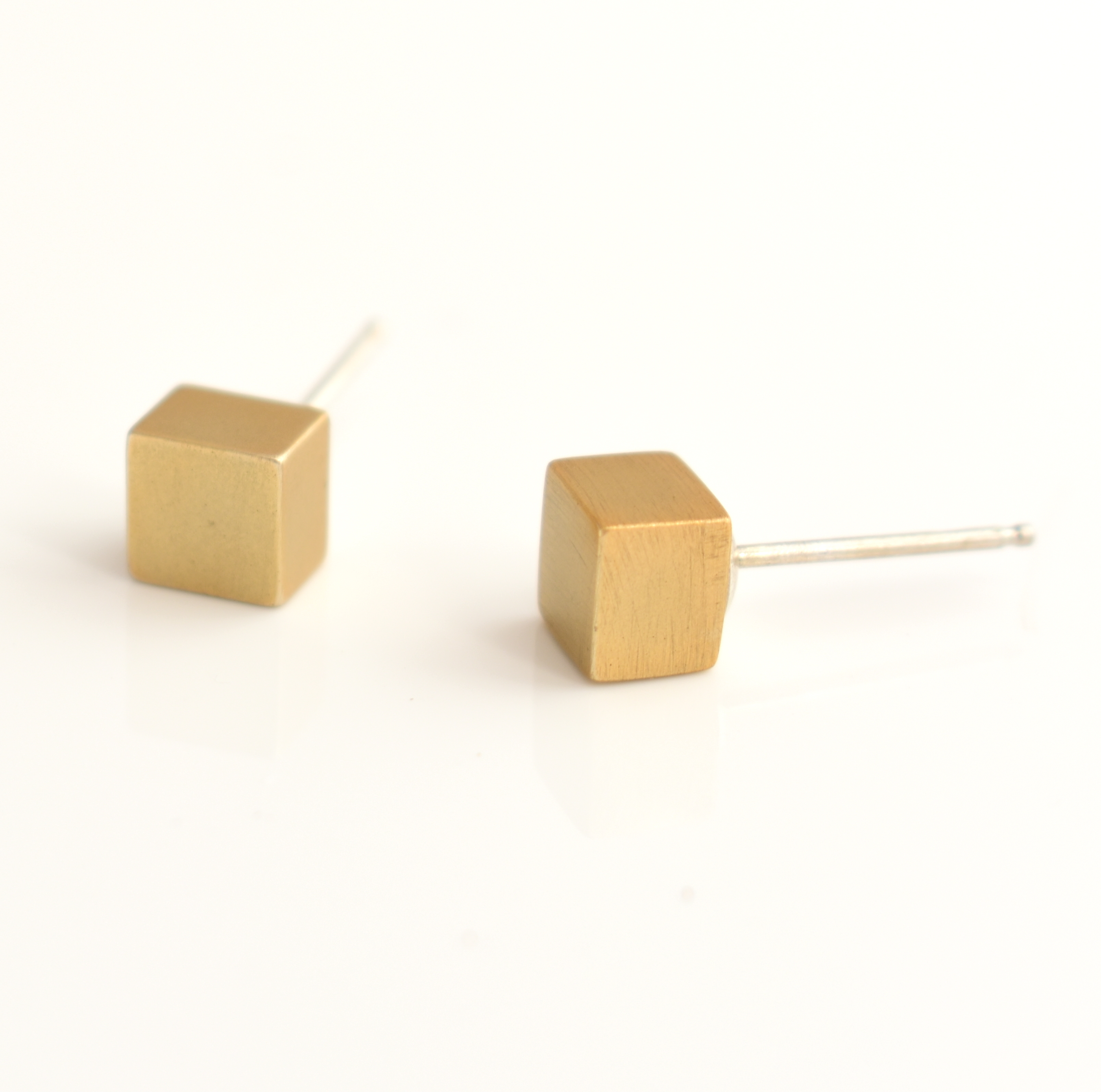 Small Cube Stud Earrings