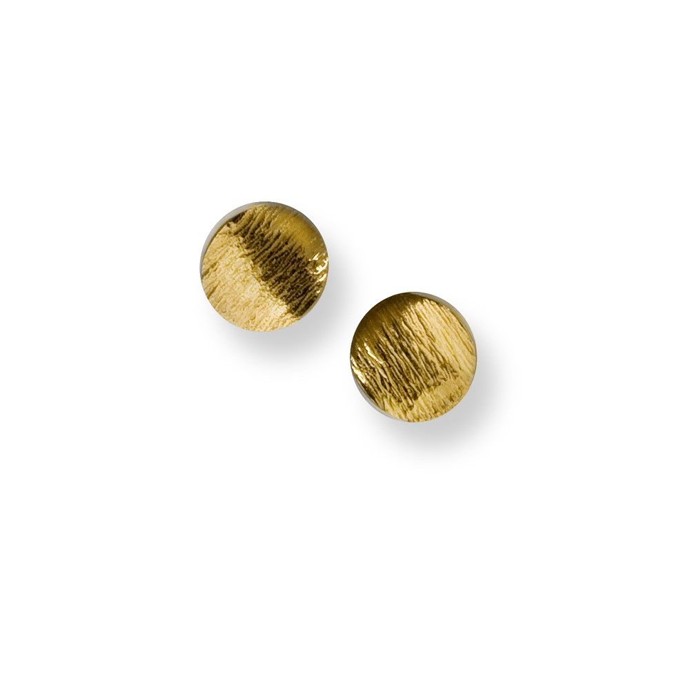 Flowing Curves small round stud earrings | Seamus Gill