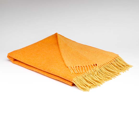 Supersoft Blanket, Orange & Mustard